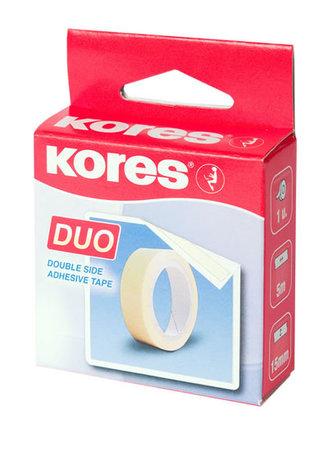 Oboustranná lepící páska Kores 5 m, 15 mm