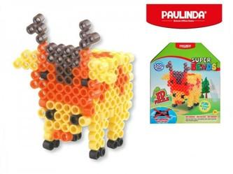 Mozaika vodní perly 3D 300ks plast jelen s doplňky 5x6mm Paulinda Super Beads v krabičce