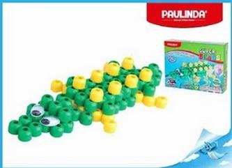 Mozaika vodní perly 3D 100ks krokodýl plast Paulinda Super Beads v krabičce
