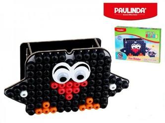 Mozaika vodní perly 110ks 10x8mm stojánek na tužky tučňák s doplňky Paulinda v krabičce