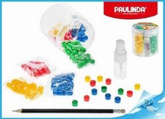 Paulinda Super Beads 10x8mm 4barvy 160ks s doplňky v dóze
