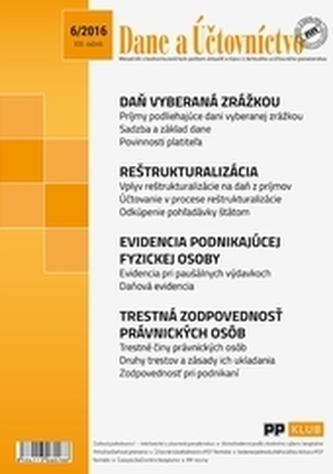 Dane a účtovníctvo 6-2016