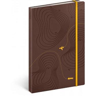 Notes - Cestovatelský notes, linkovaný/13x21cm