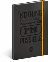 Notes - Motivační ,linkovaný, 13 x 21 cm