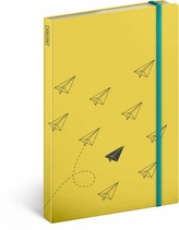Notes - Paper Plane, nelinkovaný, 13 x 21 cm