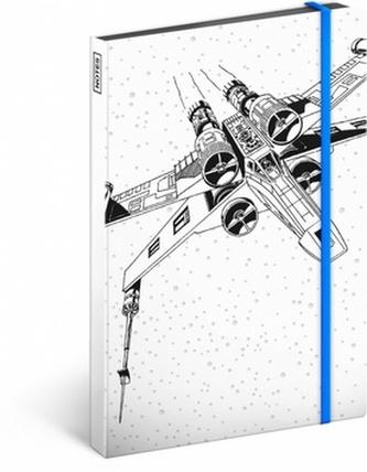 Notes - Star Wars/X-Wing, nelinkovaný, 13 x 21 cm