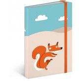 Notes - Wild Tail/Mini, linkovaný, 9 x 13 cm