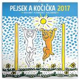 Kalendář plánovací 2017 - Pejsek a kočička