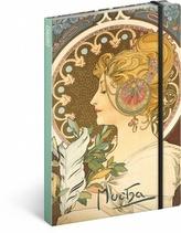 Notes - Alfons Mucha/Pero, nelinkovaný, 13 x 21 cm