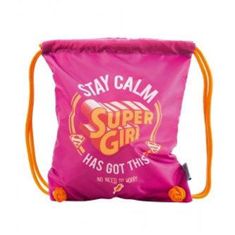 Supergirl/STAY CALM - Sáček na obuv