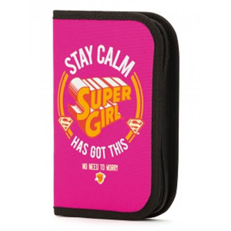 Supergirl/STAY CALM - Školní penál