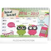 Školní plánovací kalendář 2017 s háčkem