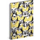 Blok - Minnie/Yellow, A4 linkovaný,spirálový