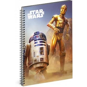 Blok - Star Wars/Droid, A5 linkovaný,spirálový