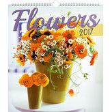 Kalendář nástěnný 2017 - Květiny