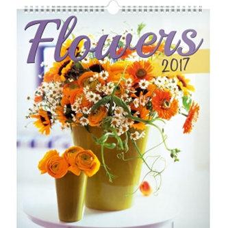 Kalendář nástěnný 2017 - Květiny - neuveden