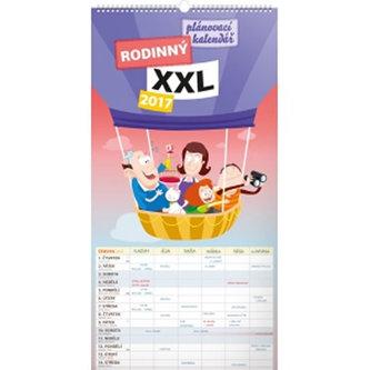 Kalendář nástěnný 2017 - Rodinný plánovací XXL