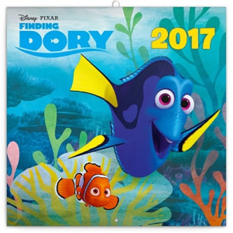 Kalendář poznámkový 2017 - Hledá se Dory s pexesem