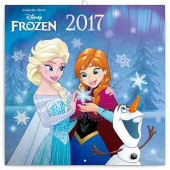 Kalendář poznámkový 2017 - Ledové království se samolepkami