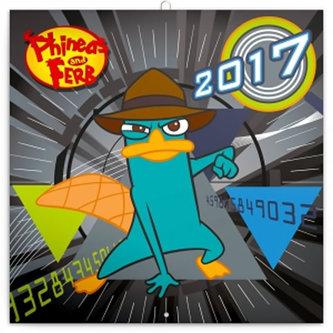 Kalendář poznámkový 2017 - Phineas a Ferb