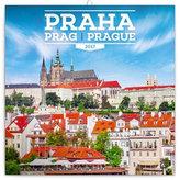 Kalendář poznámkový 2017 - Praha letní
