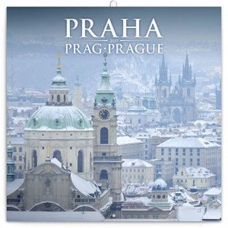 Kalendář poznámkový 2017 - Praha zimní