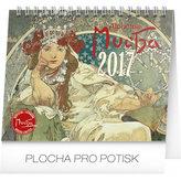 Kalendář stolní 2017 - Alfons Mucha, 13x16,5cm
