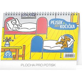 Kalendář stolní 2017 - Pejsek a kočička