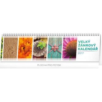Velký žánrový kalendář - stolní kalendář 2017