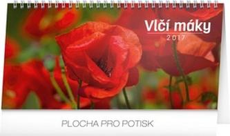 Kalendář stolní 2017 - Vlčí máky řádkový - neuveden