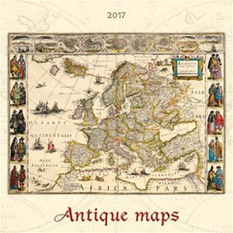 Antique maps 2017 - nástěnný kalendář