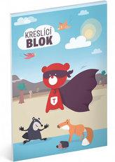 Blok kreslící - Teribear/A4 nelinkovaný