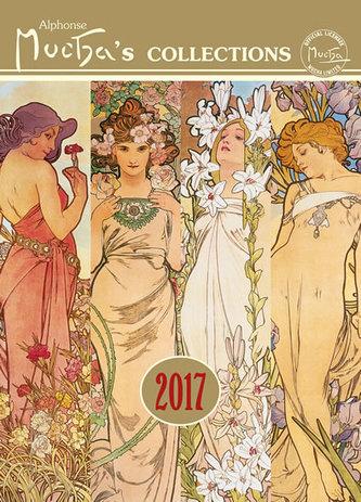 Kalendář nástěnný 2017 - Alfons Mucha, 33 x 46cm