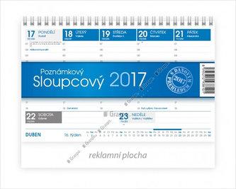 Kalendář stolní 2017 - Poznámkový sloupcový