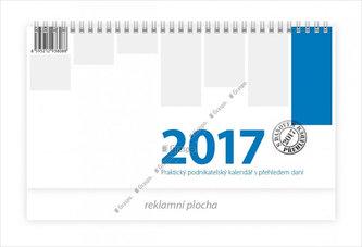 Kalendář stolní 2017 - Podnikatelský modrý