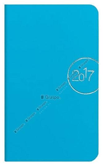 Diář 2017 - Slim modrý týdenní kapesní