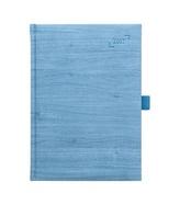Diář 2017 - Wood modrý týdenní A5