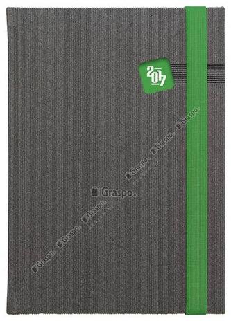 Diář 2017 - Mambo zelený denní A5