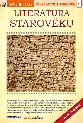 Literatura starověku - Naučné karty - neuveden