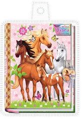Diář se zámkem v obalu - Koně
