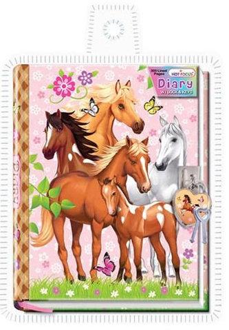Diář se zámkem v obalu - Koně - neuveden