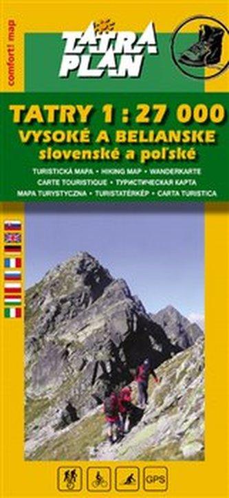 Tatry 1:27 000 Vysoké a Belianske
