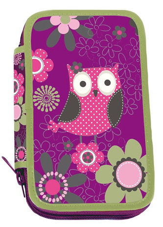 Školní penál třípatrový - Owl