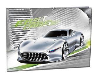 Školní desky na číslice - Fast Cars - neuveden
