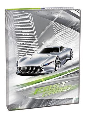 Box na sešity A4 - Fast Cars/s klopou