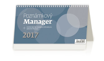 Kalendář stolní 2017 - Poznámkový/Manager