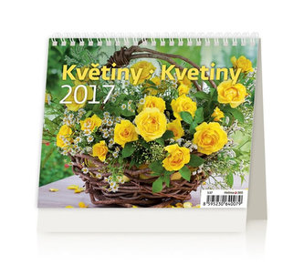 Kalendář stolní 2017 - MiniMax/Květiny