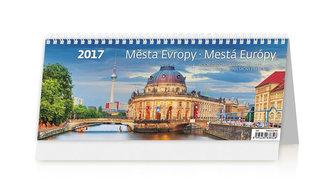 Kalendář stolní 2017 - Města Evropy