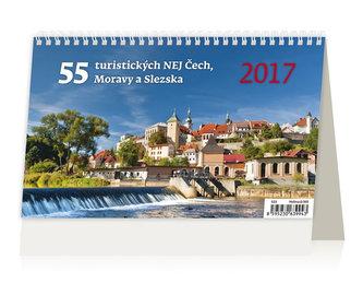 Kalendář stolní 2017 - 55 turistických nej Čech, Moravy a Slezska