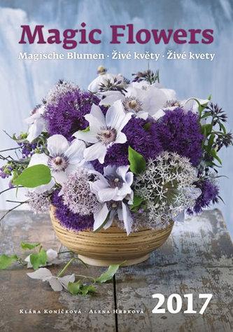 Kalendář nástěnný 2017 - Živé květy